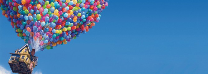"Scene from Pixar's movie ""Up"""